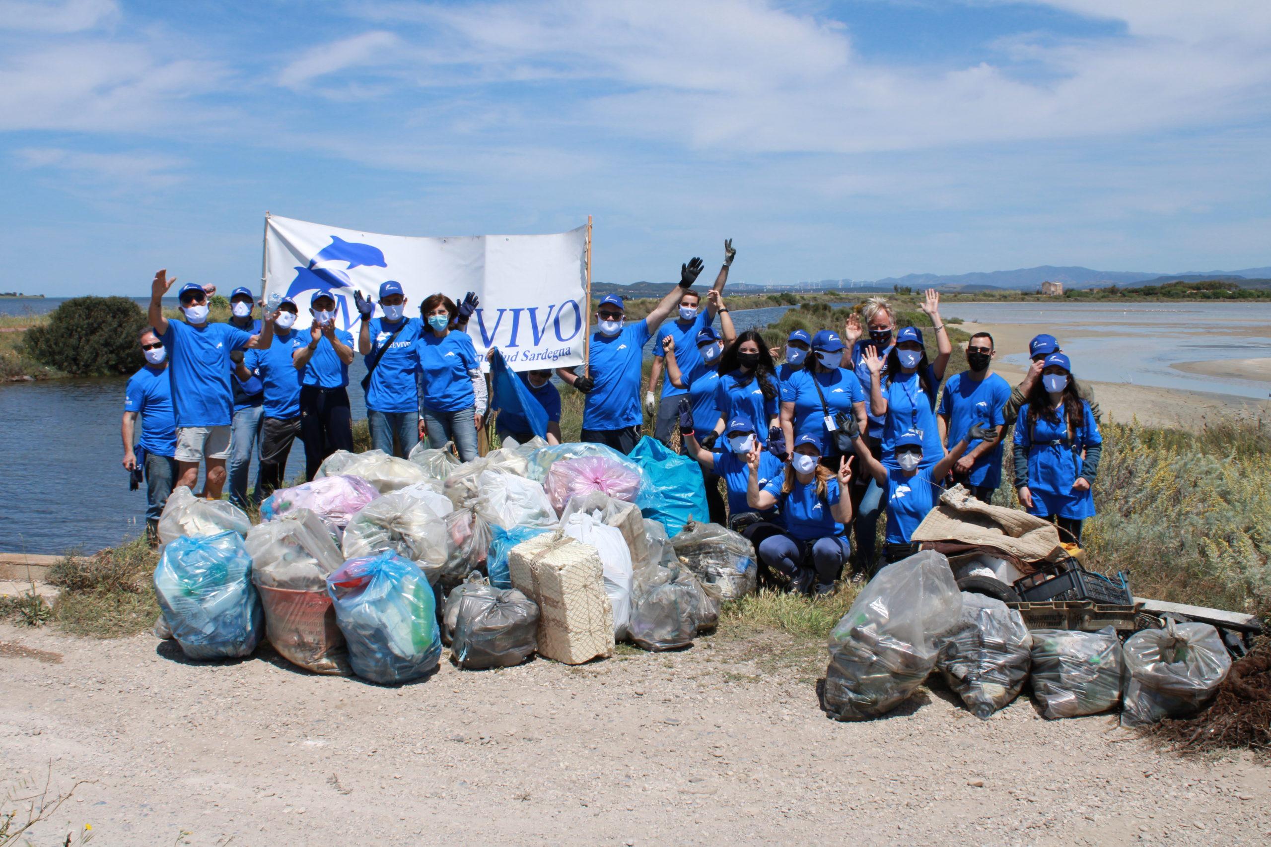 Abbiamo portato via più di 4 quintali di rifiuti dalla laguna dei fenicotteri!