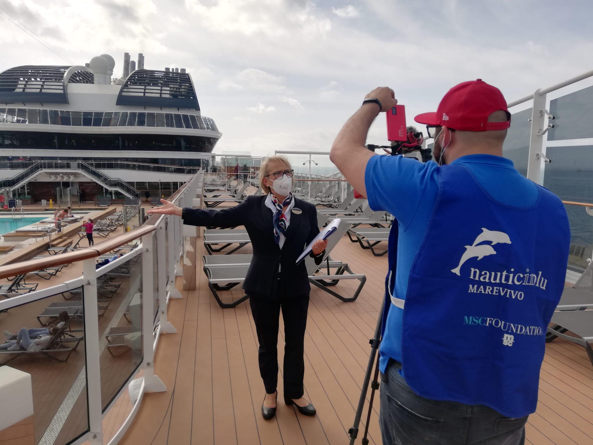 A bordo della nave MSC Grandiosa per l'evento finale di Nauticinblu