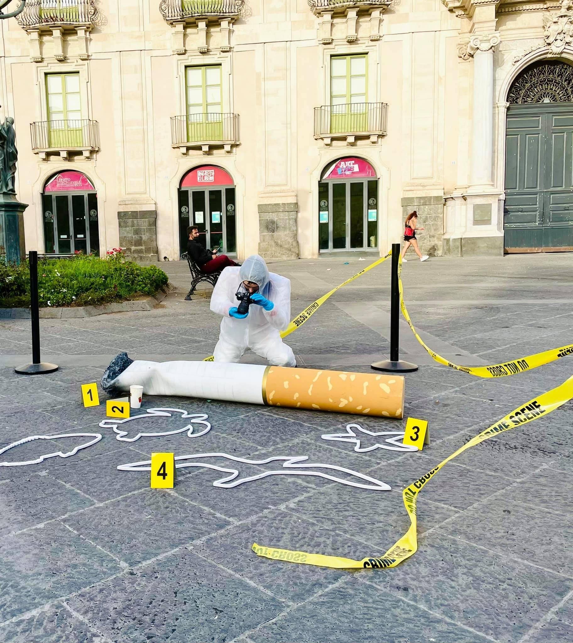 """""""Piccoli Gesti, Grandi Crimini"""", a Catania la campagna contro l'abbandono dei mozziconi"""